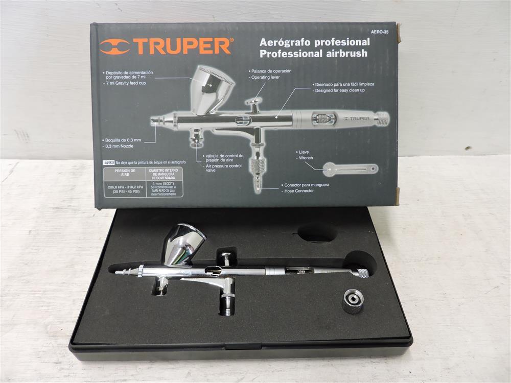 Pistola para pintar con aire aer grafo boquilla 0 3mm for Barnizado de muebles a pistola