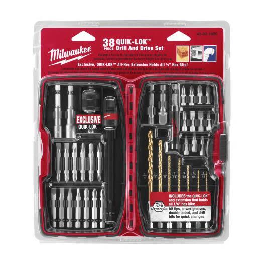 Paquetes de brocas y accesorios para taladro set de38 - Accesorios para taladros electricos ...